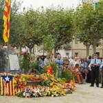 Lectura del manifest Ara és l'hora a Calella (Maresme)