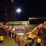 V per a la independència catalana a Vilassar de Mar (Maresme)
