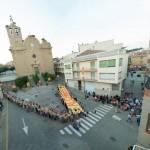 La V en el marc de la Diada de Catalunya a Alcarràs (Segrià)