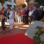 Acte institucional de la Diada a la plaça Rafael Casanova a Tàrrega (Urgell)