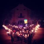 V amb encesa d'espelmes a l'Ametlla del Vallès (Vallès Oriental)