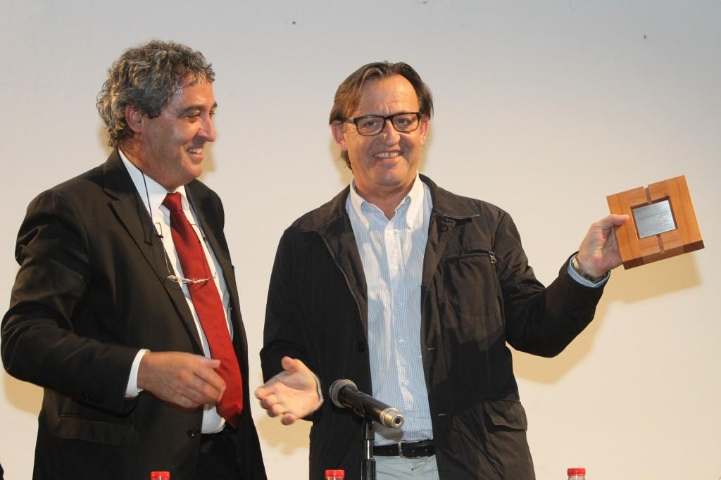 Francesc Xavier Bellvehí, alcalde de Viladrau, i Josep M. Vila d'Abadal, president de l'AMI