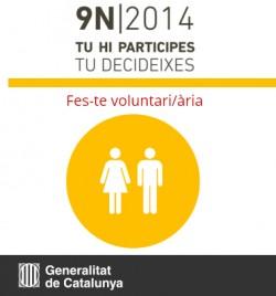 Fes-te voluntari/ària del 9N