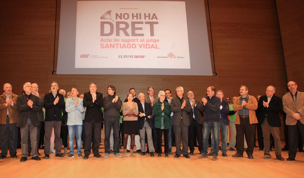 Acte de suport al jutge Santiago Vidal a Girona