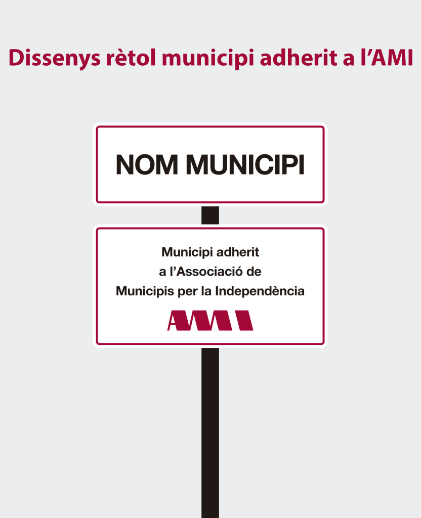 Disseny rètol de municipi adherit a l'AMI