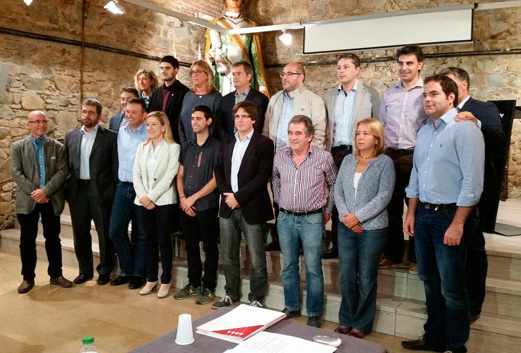 La Comissió Executiva de l'AMI, a Argentona (Maresme)