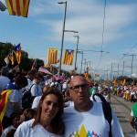Ferran Roquer, alcalde de Borrassà, i Sònia Martínez, alcaldessa de la Jonquera