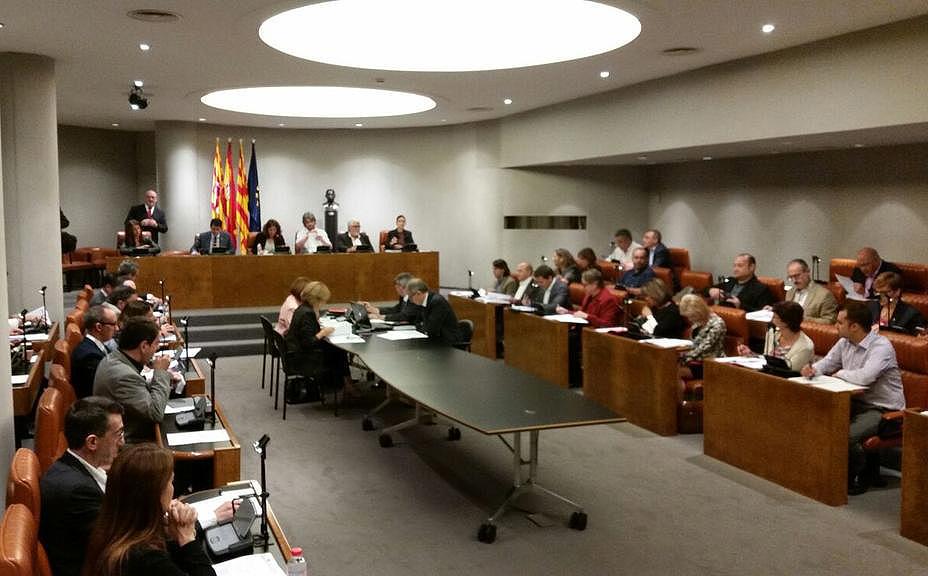 El Ple de la Diputació de Barcelona que ha aprovat l'ingrés a l'AMI