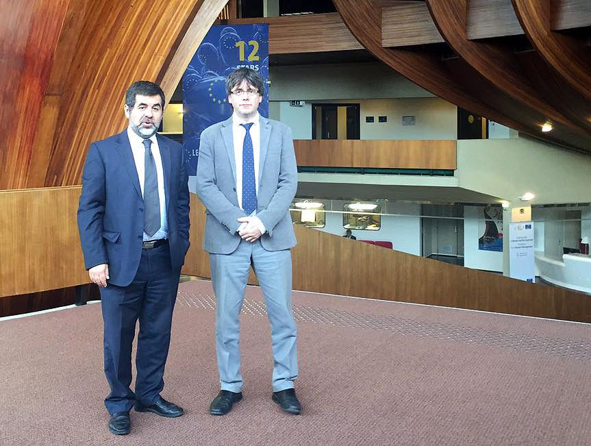Jordi Sánchez i Carles Puigdemont, a Estrasburg