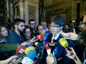 Carles Puigdemont, al Parlament