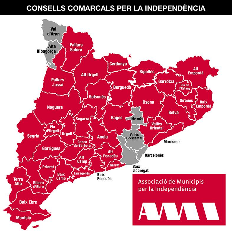 Consell comarcals adherits a l'AMI