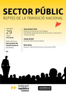 Sector public, reptes de la transició nacional