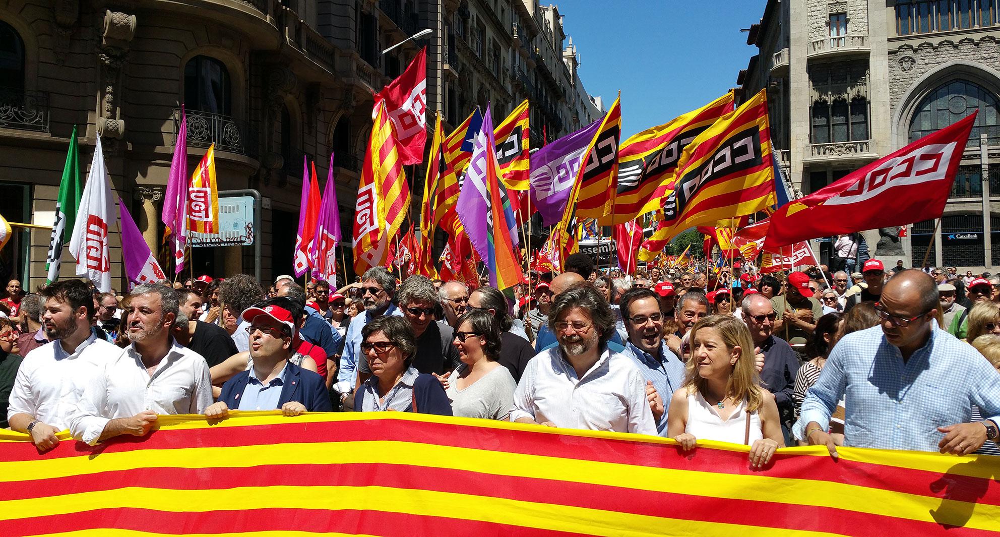 L'AMI, a la manifestació Els drets no se suspenen