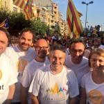 Jordi Munell, alcalde de Ripoll amb altres alcaldes