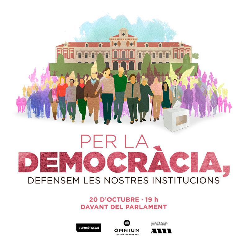 Per la democràcia, defensem les nostres institucions